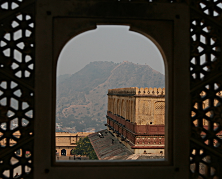 Amber fort, Jaipur, through a window