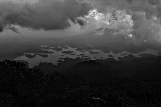 Banasura reservoir from peak
