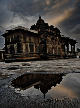 Reflection at Chennakeshava Temple, Belur