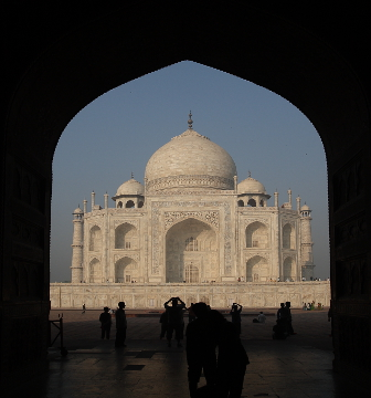 Taj Mahal through the arch